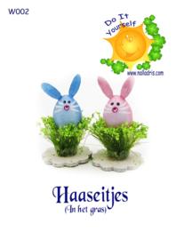 W002 DIY Egg bunnies in green