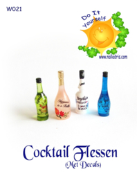 W021 DIY Cocktail Flessen