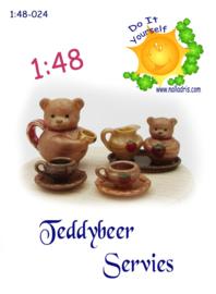 1:48-024 Teddy Bear Tea Set