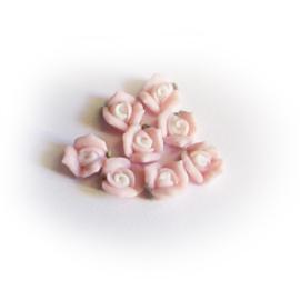 Porseleinen roosje 5mm Roze