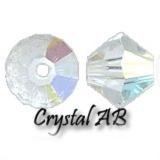 MC Bead Rondell 3mm Crystal AB - 50