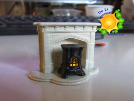 DIY 1:48 stove with smoulder-LED