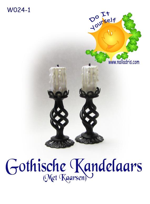 DIY Gothic Candles