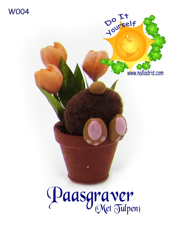 W004 DIY Paasgraver met tulpen