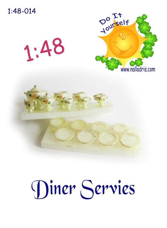 1:48-014 DIY Diner Servies