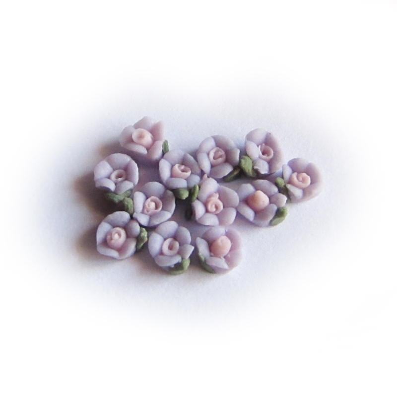 Porseleinen bloem 3mm lila