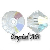 MC Bead Rondell 6mm Crystal AB - 10