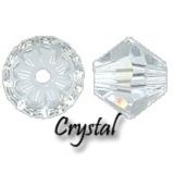 MC Bead Rondell 5mm Crystal - 10