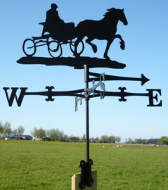 Paard Welsh met Kar Windwijzer Groot