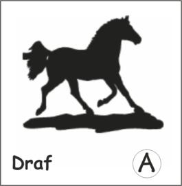 Paard Draf Hangplant haak 30cm