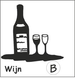 Wijnfles met glazen Hangplant haak 40cm