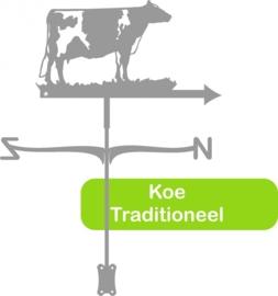 Koe Traditioneel RVS Windwijzer Middel
