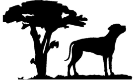Rhodesian Ridgeback Hangplant haak 40cm
