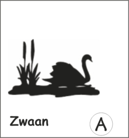 Zwaan Hangplant haak 40cm