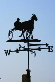 Paard met Sulkey Windwijzer Groot