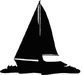 Zeilboot Hangplant haak 40cm