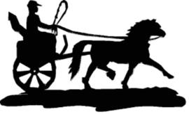 Paard welsh met kar Hangplant haak 40cm