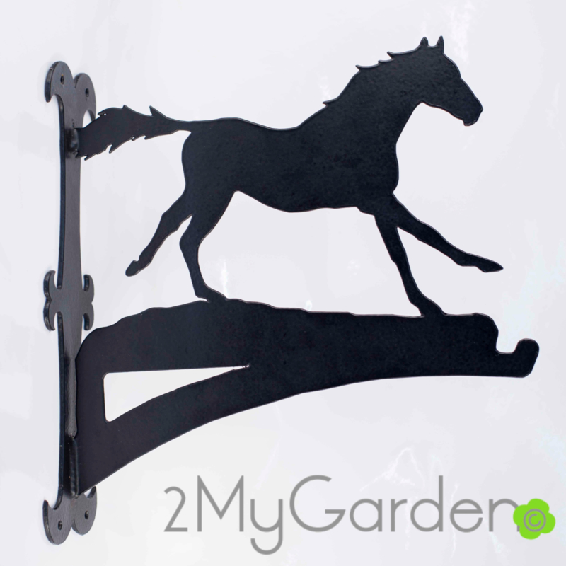 Paard Galop Hangplant haak 40cm