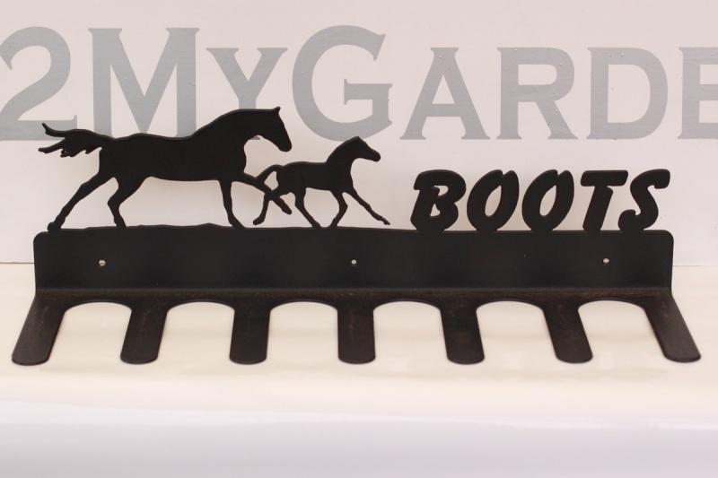 Paard Merrie met veulen Laarzenrek 3 paar