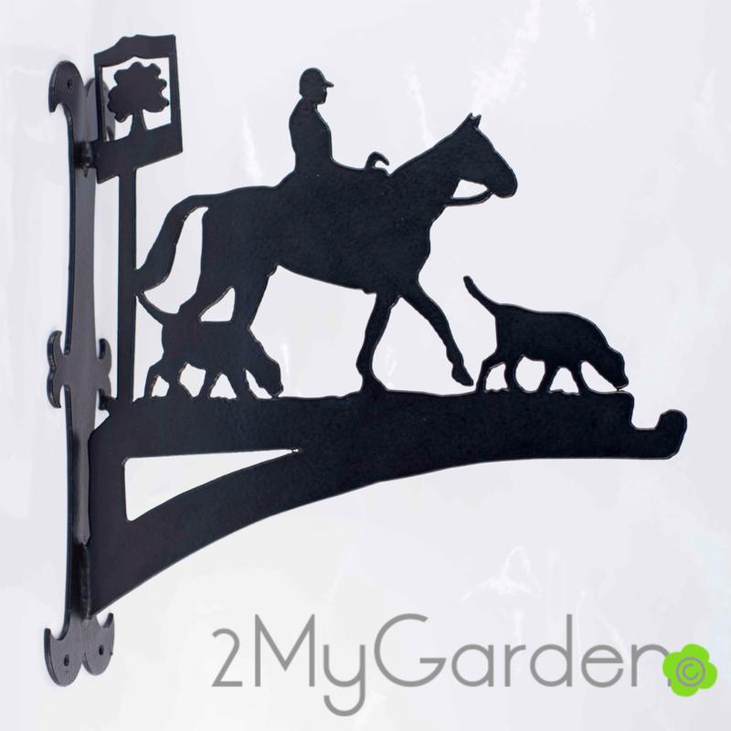 Paard met honden Hangplant haak 40cm