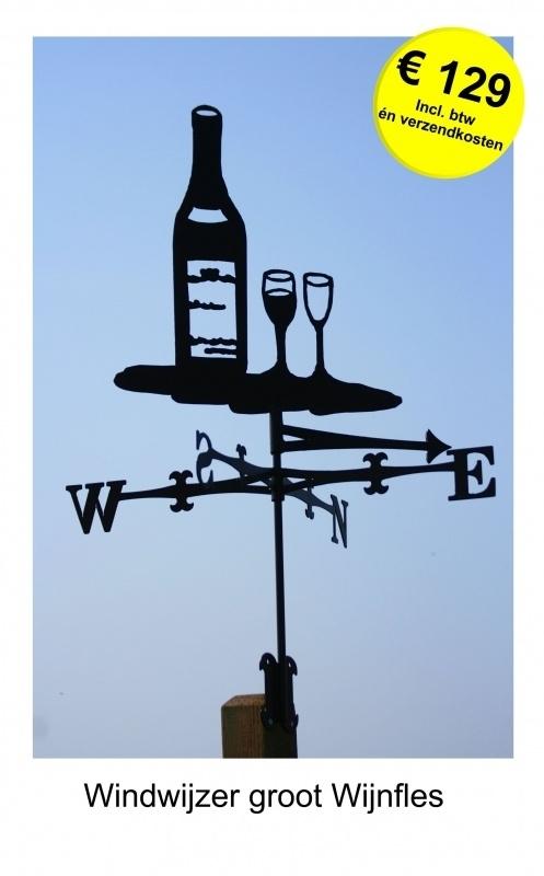 Wijnfles Windwijzer Groot