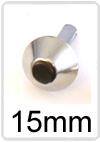 Tas voet metaal 15 mm. oud zilver