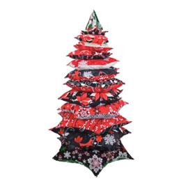 Patroon Kerstboom van stof