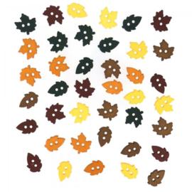 Knopen in de vorm van herfst blaadjes