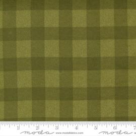 Quiltstof groene Flanel geblokt 49144 13F