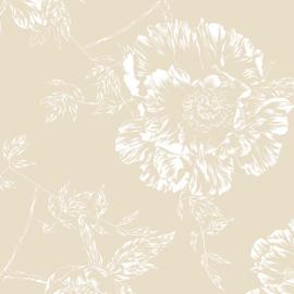 Achterkantstof beige / linnen dubbelbreed 270 cm. -  9748W70