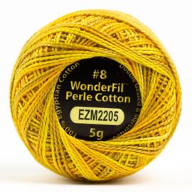 Wonderfil Alison Glass perle dikte 8 wt # 2205 Marigold