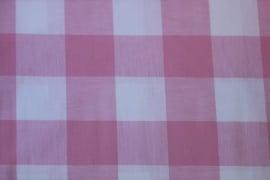 ruitstof  roze 5 cm ruit