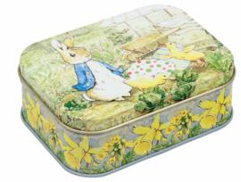 Blikje Peter Rabbit met ei.