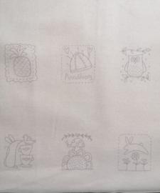 Stitchery panel Hearstrings van Nathalie Bird