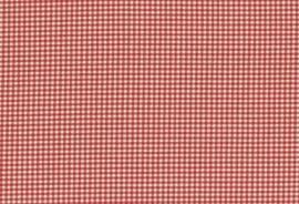 Geweven ruitstof rood off white 3 mm