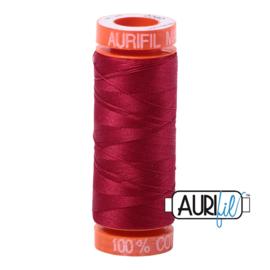 Aurifil Mako50 #2260   rood - wine 200 meter