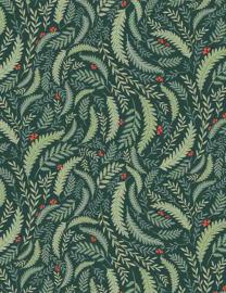 ALPINE 1869 stof met varen bladeren