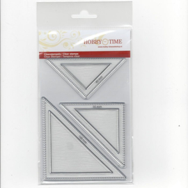 Quiltstempel halve vierkanten crp0014