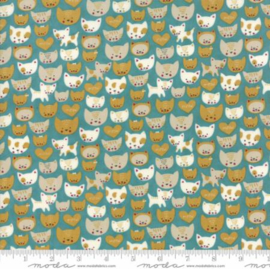 Quiltstof Woof woof Meow Kitty