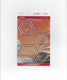 Quiltstempel transparant hexagonnen 0.5, 0.75 en 1 inch crp0031