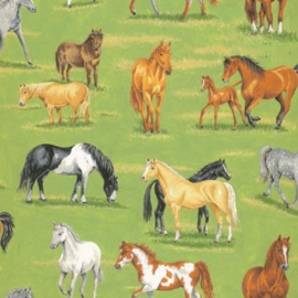 Quiltstof in the country 101 met paarden 89310 105