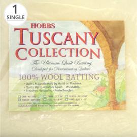 Hobbs Tuscany 100 % wol tussenvulling   300 cm.  x 300 cm. - king size