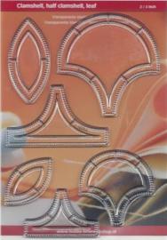 Set van 6 stempels - Clamshell en hald clamshell - 2 en 3 inch CRP0186