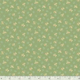 Quiltstof groen met bloemetjes R210874 - 0114 GREEN