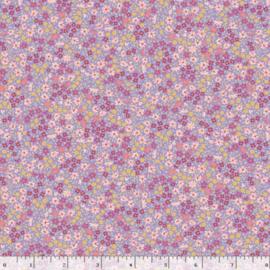 Quiltstof paars met bloemetjes R210872 - 0136 LILAC