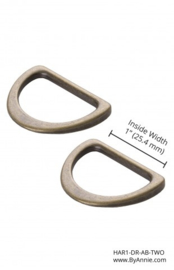 By Annie 3D rings set 1 inch HAR1-DR-AB-TWO