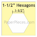 "hexagon mallen 1 - 1/2 "" inch"