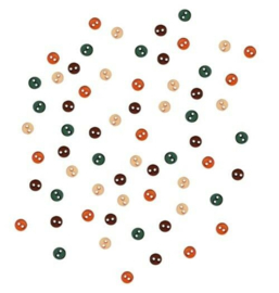 Kleine ronde knopen in herfstkleuren