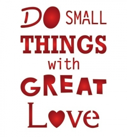 sjabloon Do small things with great love