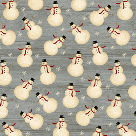 Quiltstof Rustic Village Christmas 688815
